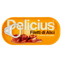 Filetti di Alici in Salsa Piccante 50g Scatolina | Delicius