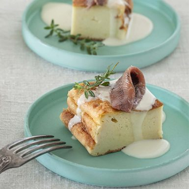 Salty cake Potato Fondue and Anchovies 410x615 (02) | Delicius
