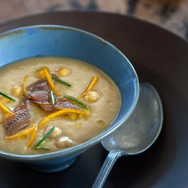 Chickpea Soup and Anchovies 1100x683 (01) | Delicius