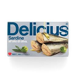 Sardine all'olio di Oliva 120g | Delicius
