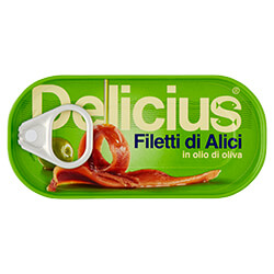 Filetti di Alici in olio di Oliva 46g Scatolina | Delicius