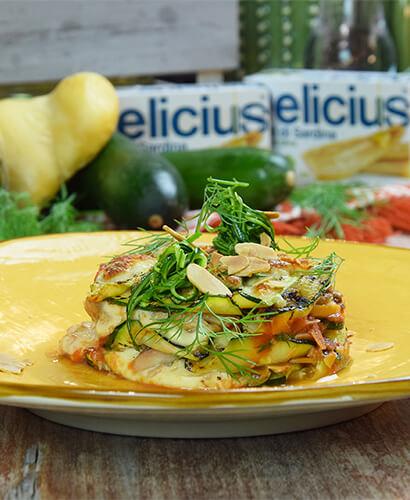 Lasagnetta di Zucchine, Sardine e Scamorza