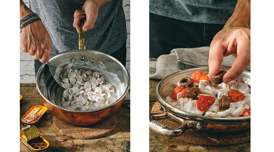 Orecchiette Burrata e Alici Salsa Piccante Delicius