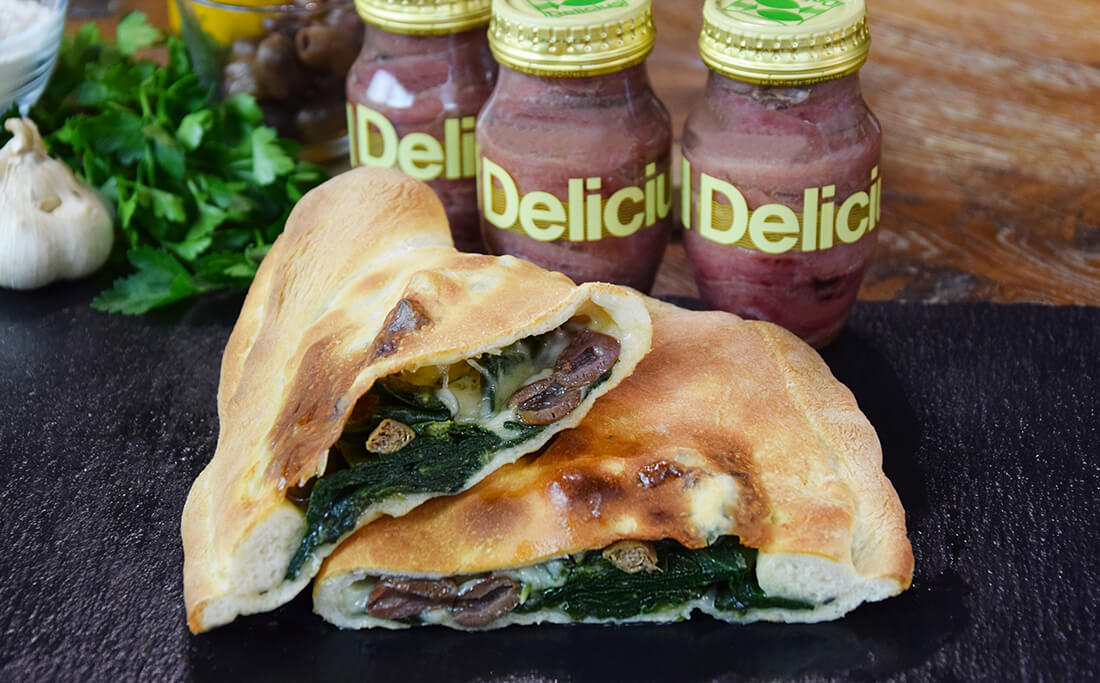 Calzone Filled with Beets and Anchovies