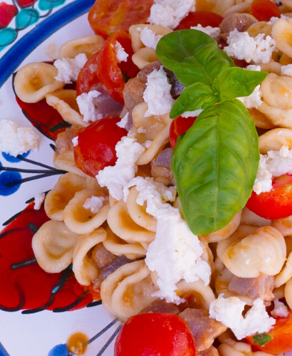 "Cold Pasta with Tomato and Delicius Anchovies ""Insalate"""