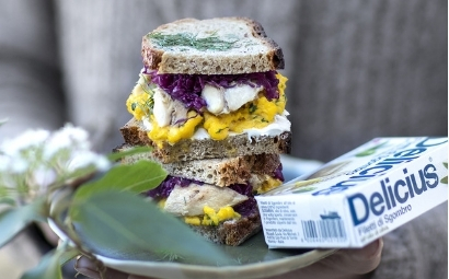 Mackerel and egg sandwich