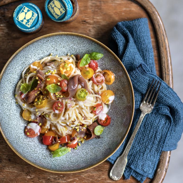 Spaghetti con Caprino e Alici Canale Di Sicilia